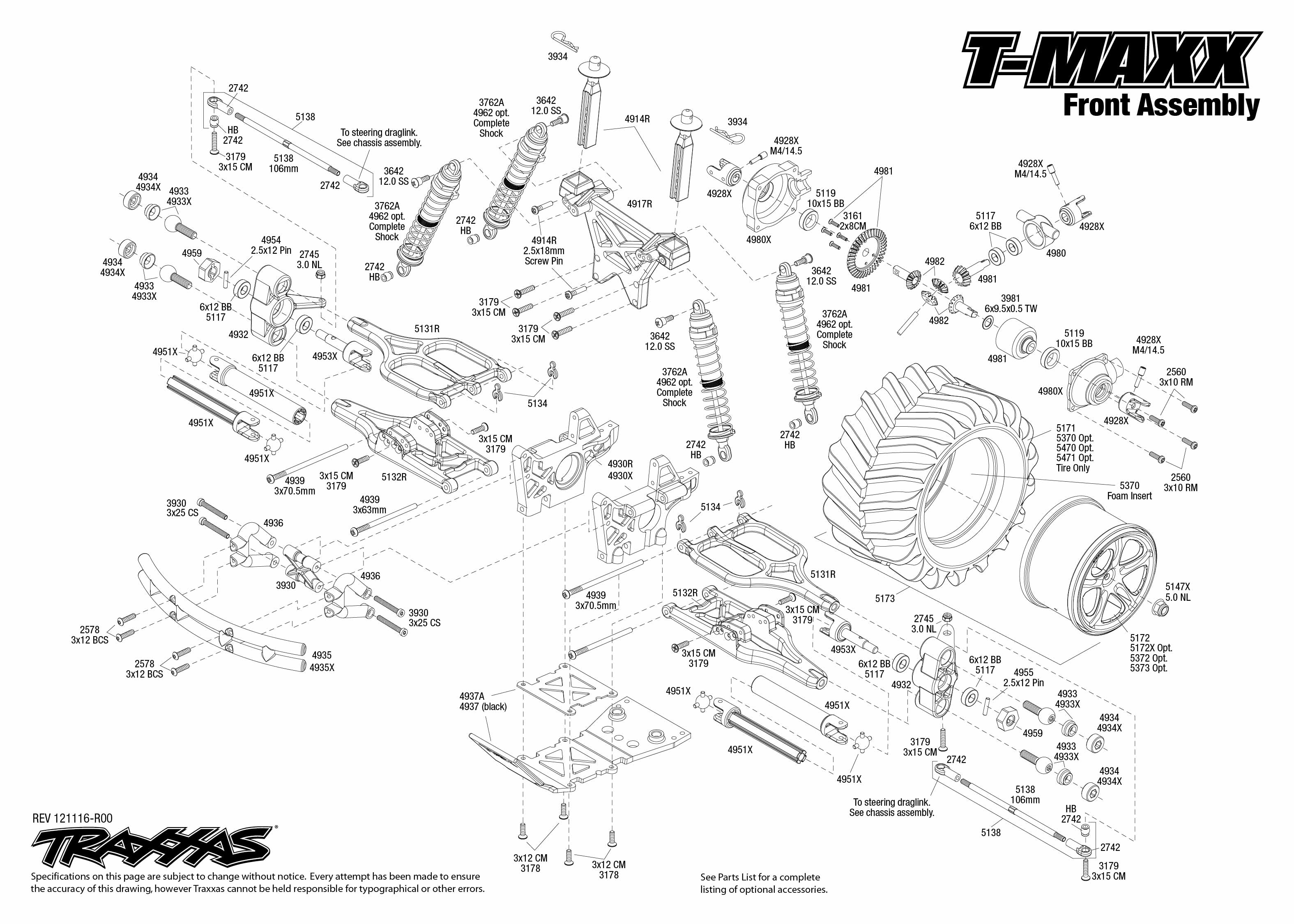 T Maxx Front Assembly